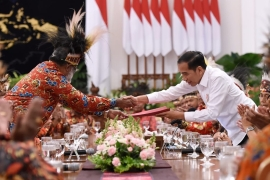 Jokowi has kept mum on the growing demand of Papuans to call a referendum in the region [Indonesian Presidential Palace]