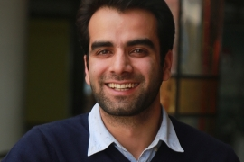 Javid Parsa, 31, connects people abroad to Kashmiris who have suffered from a communications blackout [Courtesy of Junaid Dar]