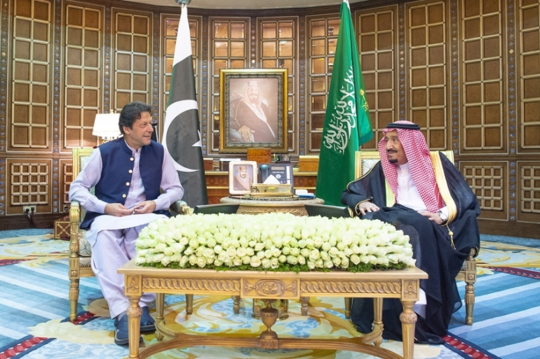 Riyadh's statements on Khan's visit were brief, making no mention of Iran [Bandar Algaloud/Saudi Kingdom Council/Handout/Anadolu]