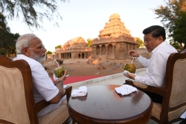 The informal summit between Xi and Modi held in Mamallapuram was their second since April last year [Press Information Bureau/EPA]
