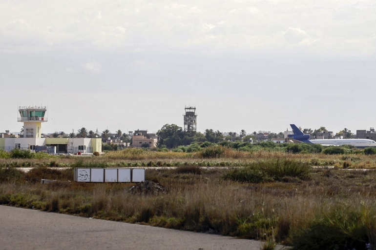 The former military airbase had been Tripoli's sole functioning airport until a rocket attack on September 1 that wounded four people [File: Mahmud Turkia/AFP]