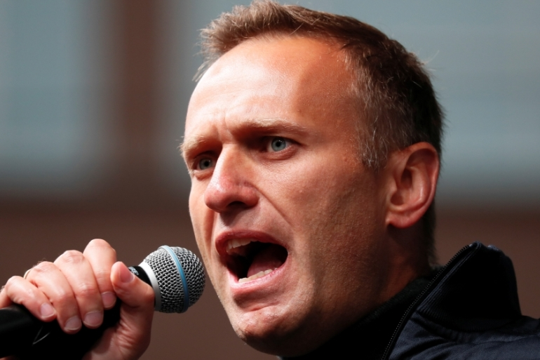 Alexei Navalny has worked to expose wealth of Russia's elite, broadcasting findings of investigations on social media [File: Shamil Zhumatov/Reuters]