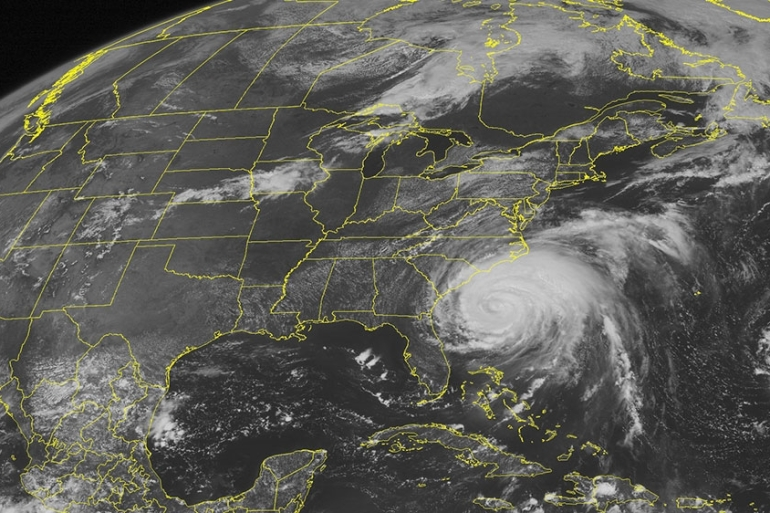 This NOAA satellite image taken August 26, 2011 shows Category 2 Hurricane Irene [File: Weather Underground/AP Photo]