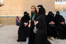 Saudi women are no allowed to drive and travel without a male 'guardian' [EPA]