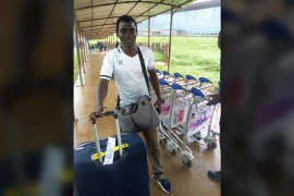 Moshood Afolabi arrives back in Nigeria after a 16-month ordeal in Mongolia that saw him lose money, confidence and hope [Tolu Olasoji/Al Jazeera]