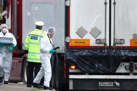 UK police have charged the truck's 25-year-old driver with 39 counts of manslaughter [Hannah McKey/Reuters]