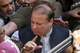 Pakistan's anti-corruption tribunal has ordered that convicted Nawaz Sharif be questioned on money laundering allegations [File: KM Chaudary/AP]