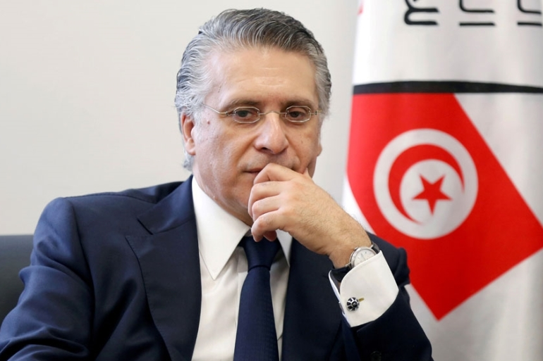 Nabil Karoui is a businessman and owner of the private channel Nessma TV [File: Zoubeir Souissi/Reuters]