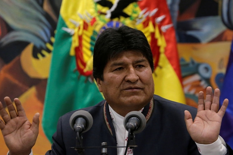 Morales has denied the charges, saying his resignation was brought about by a 'coup' [File: David Mercado/Reuters]