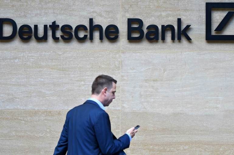Deutsche Bank announced huge job cuts earlier this summer and is now reportedly being investigated over alleged money laundering worth hundreds of billions of dollars [Facundo Arrizabalaga/EPA-EFE]