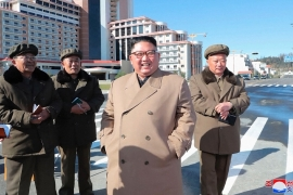 North Korea's leader Kim Jong Un often directly oversees missile launches by his military [KCNA via AP]