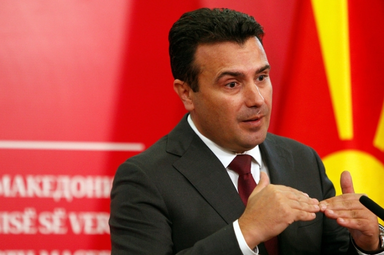 Prime Minister Zoran Zaev said he would meet with the president and other political leaders on Sunday to discuss next steps [Ognen Teofilovski/Reuters]