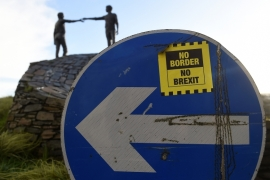 Decision to invoke the emergency Northern Ireland Brexit protocol drew widespread criticism across the island of Ireland [File: Clodagh Kilcoyne/Reuters]