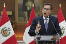 Martin Vizcarra came to power in March 2018 after Pedro Pablo Kuczynski was forced to resign as president over a corruption scandal [File: The Associated Press]
