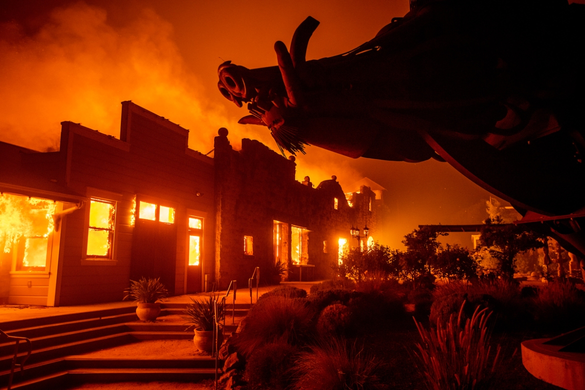 Forecasts of strong winds prompted officials to start cutting electricity for millions of people in an effort to prevent more fires. [Noah Berger/AP Photo]