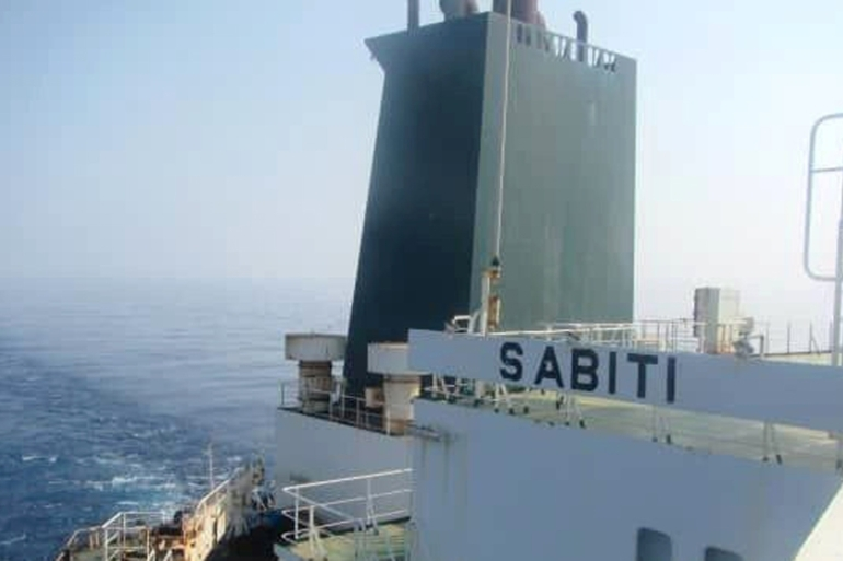 An undated picture shows the Iranian-owned Sabiti oil tanker sailing in Red Sea [National Iranian Oil Tanker Company via WANA via Reuters]