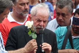 Lula, who was released from prison on Friday, is appealing his conviction which he says was politically motivated [Amanda Perobelli/Reuters]