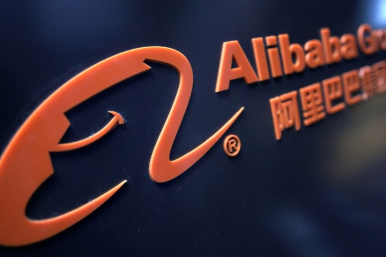Alibaba is the first major Chinese technology corporation to report results since the coronavirus emerged in January [File:Jason Lee/Reuters]