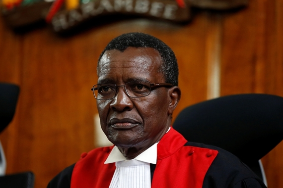 Kenyan Chief Justice David Maraga alleges judicial budget cuts are hampering Kenya's anti-corruption drive [File: Baz Ratner/Reuters]