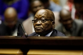 Former South African President Jacob Zuma has not cooperated with the commission of inquiry [File: Michele Spatari /Pool via Reuters]