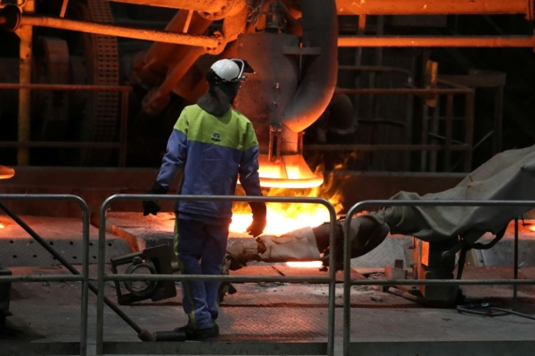 Unions in the UK and the Netherlands said that after Tata Steel's planned merger with German steelmaker Thyssenkrupp, they were given a jobs guarantee until 2021 [File: Yves Herman/Reuters]