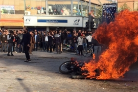 Iranian protesters clash in the streets following fuel price increase in the city of Isfahan, central Iran [File: EPA]