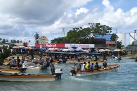 The waterfront of Bougainville's main town of Buka. The territory is voting in a referendum on independence [Catherine Wilson/Al Jazeera]
