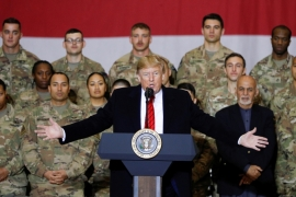 The new plan will accelerate troop withdrawals from Iraq and Afghanistan during United States President Donald Trump's final days in office [Tom Brenner/Reuters]