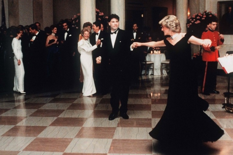 Diana, Princess Of Wales, dances with John Travolta at the White House [File: Getty Images]