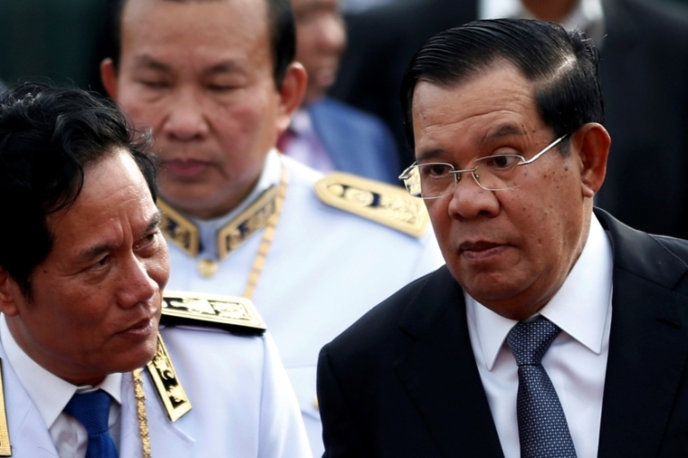 Hun Sen, in power for 34 years, had previously accused the US of seeking 'regime change' to remove him [File: Samrang Pring/Reuters]