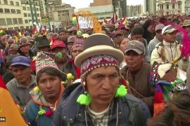 Thousands of Bolivians march over disputed election