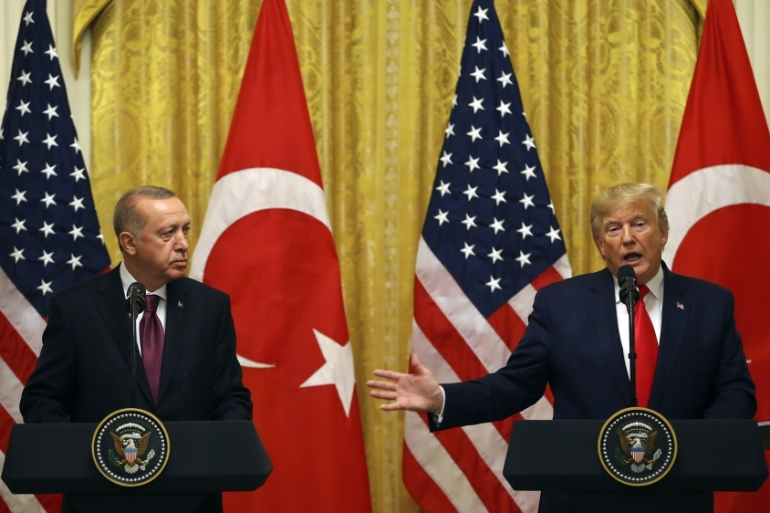 Erdogan met Trump and leading Republican senators during his visit to Washington [Reuters]