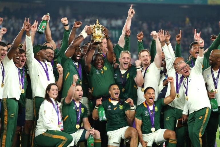 South Africa Beat England To Lift Rugby World Cup Europe News Al Jazeera