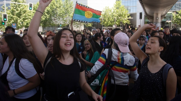 Chile saw widespread protests against inequality in 2019 [File: Claudio Reyes/AFP]