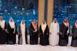 GCC leaders pose for a photo during the GCC summit in Mecca, Saudi Arabia on May 30, 2019 [Bandar Algaloud/Courtesy of Saudi Royal Court/ via Reuters]