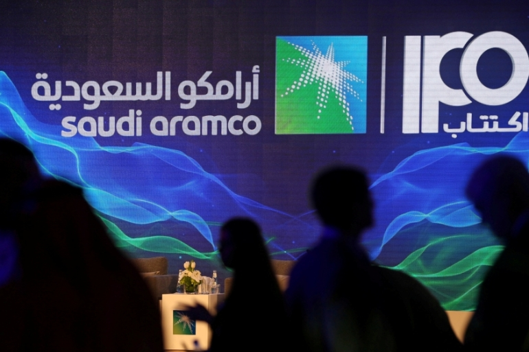 Aramco's record IPO in December gave it a price tag of $1.7 trillion [File: Hamad I Mohammed/Reuters]