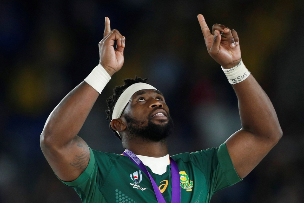 Siya Kolisi is the first black player appointed captain in the 128 years of Springboks' history. [Edgar Su/Reuters]