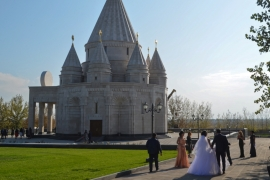 The temple is a place for worship and religious ceremonies, including weddings, for Armenia's 35,0000-strong Yazidi community [Ariel Sophia Bardi/Al Jazeera]