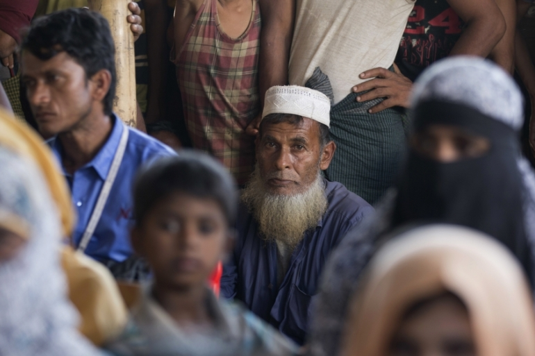 More than 730,000 Rohingya fled to neighbouring Bangladesh following the brutal crackdown by the military in August 2017 [File: Dar Yasin/AP]