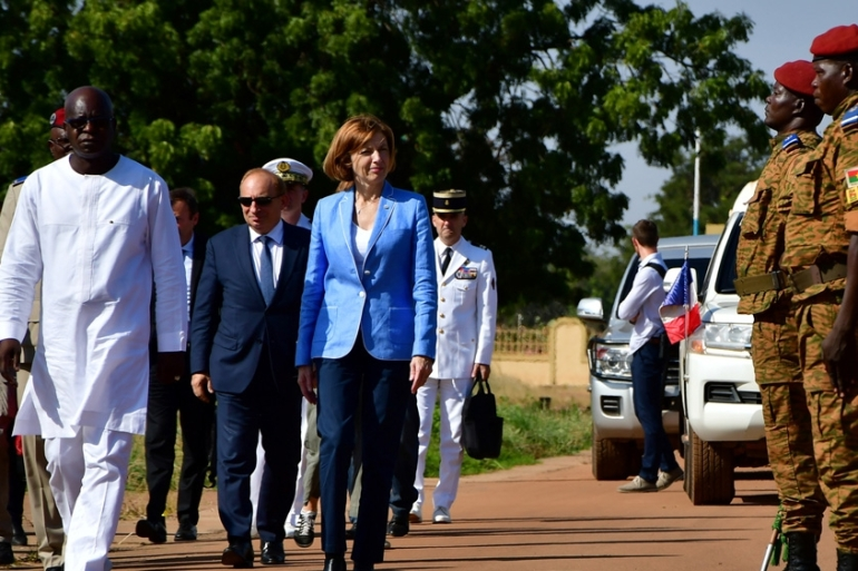 Deployment announcement represents France's first major commitment of ground troops in Burkina Faso [Anne Mimault/Reuters]
