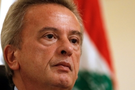 The Swiss probe centres on $400m in transfers allegedly tied to Lebanon's central bank governor of 27 years, Riad Salameh, his brother Raja, and Salameh's adviser Marianne Al-Hoayek, a judicial source told Al Jazeera [File: Jamal Saidi/Reuters]