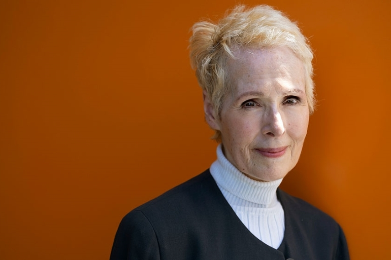 In this June 23, 2019, file photo, E Jean Carroll is photographed in New York [File: Craig Ruttle/Reuters]