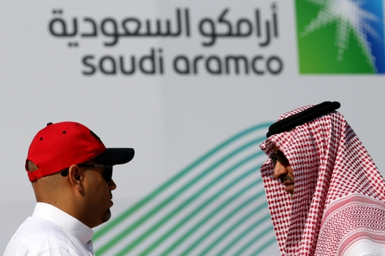 Saudi Aramco executives dismissed concerns about peaking global oil demand as recently as April this year, but views are changing ahead of what could be the biggest-ever share sale [File: Hamad I Mohammed/Reuters]
