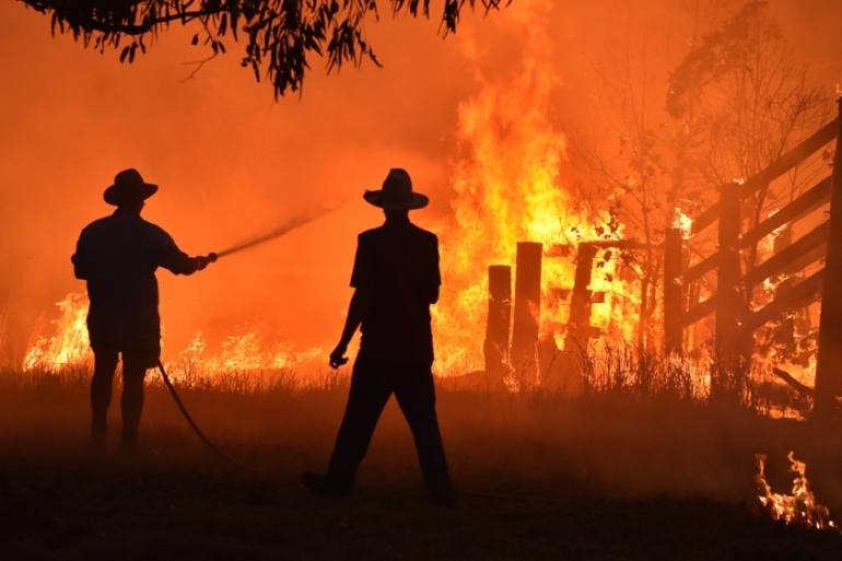 Climate change has long been a hot button issue in Australia, becoming even more so since last summer when intense wildfires raged for about four months across large parts of the country [File: Peter Parks/AFP]