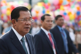 Cambodia's longtime Prime Minister Hun Sen has ordered the release of 70 opposition activists. [Samrang Pring/Reuters]