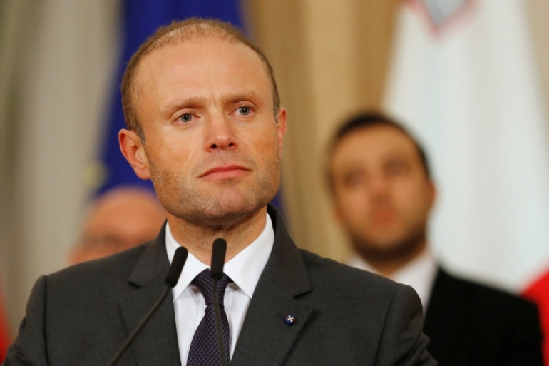 Maltese Prime Minister Joseph Muscat led his party to two sucessive election victories but his image unravelled amid allegations of corruption and the killing of investigative journalist Daphne Caruana Galizia in 2017 [Yara Nardi/Reuters]