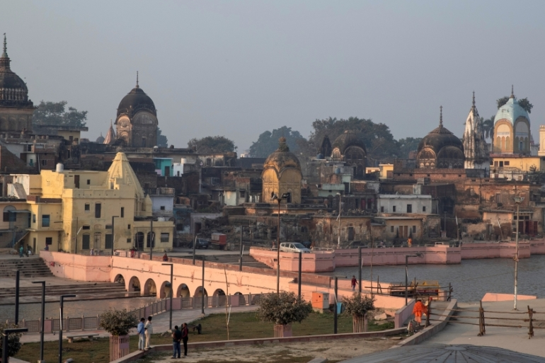 The site in Ayodhya has been at the centre of a bitter dispute between India's majority Hindus and minority Muslims since independence [File: Danish Siddiqui/Reuters]