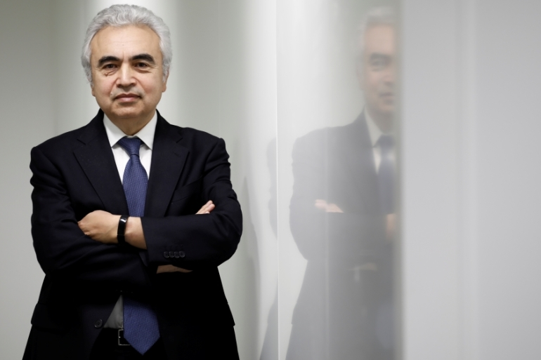 Fatih Birol, the Executive Director of the International Energy Agency, has said that in stopping climate change 'governments hold the clearest responsibility to act and have the greatest scope to shape the future' [Benoit Tessier/Reuters]