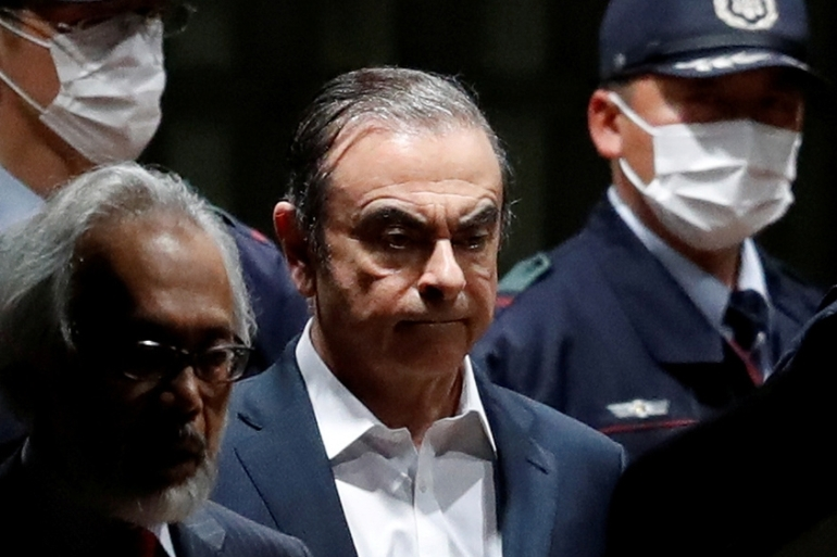 Nissan and Renault were left reeling by Carlos Ghosn's arrest in Tokyo a year ago, on financial misconduct charges that he denies [File: Issei Kato/Reuters]