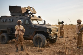 Burkina Faso army has been battling armed groups with links to al-Qaeda and the ISIL since 2017 [File: Michele Cattani/AFP]